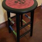 Fleurdelis_stool_left side